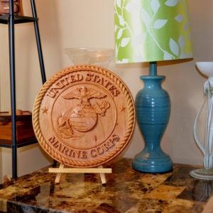 Marine Corps EGA Wood Carved Eagle, Globe, and Anchor 3D Sign